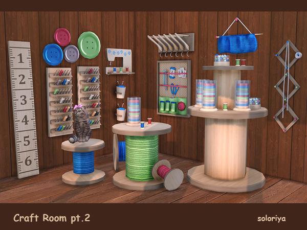 Craft Room Part 2 by soloriya at TSR image 3014 Sims 4 Updates