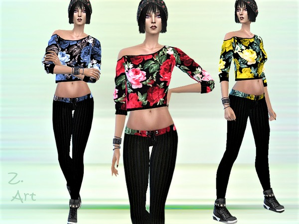 Sims 4 TrendZ 14 outfit by Zuckerschnute20 at TSR