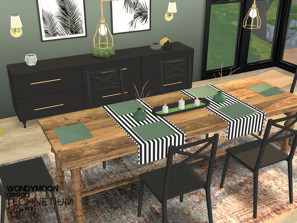 Sims 4 Technetium Dining by wondymoon at TSR