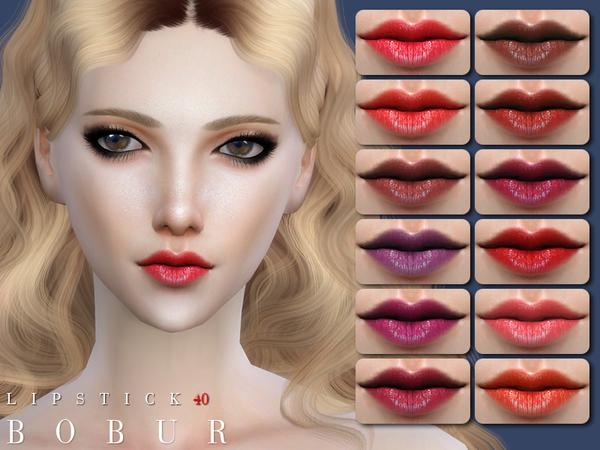 Sims 4 Lipstick 40 by Bobur3 at TSR