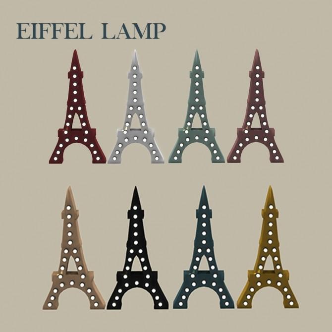 Sims 4 EIFFEL LAMP at Leo Sims