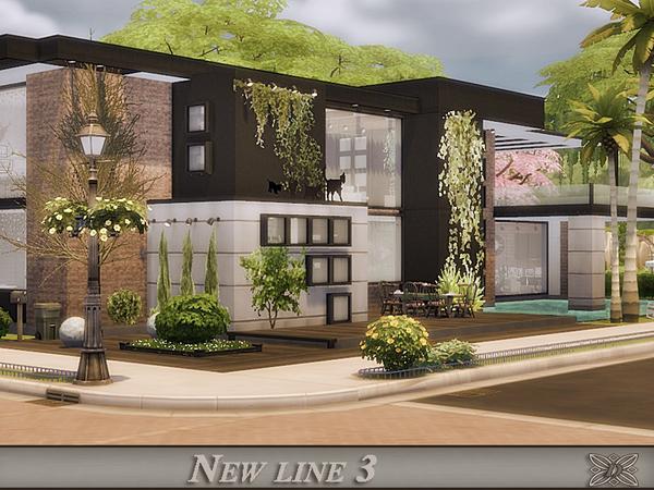 Sims 4 New line 3 ultra modern house by Danuta720 at TSR