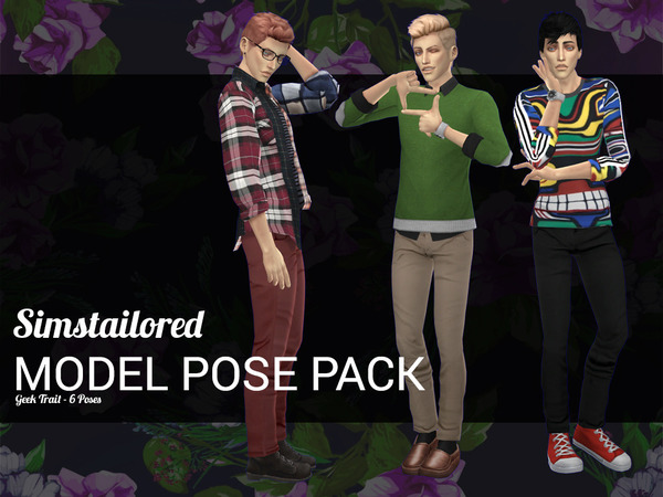 Model Pose Pack Geek Trait by Simstailored at TSR image 3101 Sims 4 Updates
