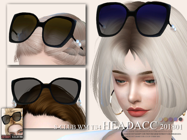 Glasses Head acc F 201801 by S Club WM at TSR image 3113 Sims 4 Updates
