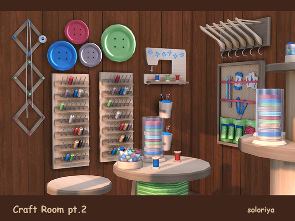 Craft Room Part 2 by soloriya at TSR image 3115 Sims 4 Updates