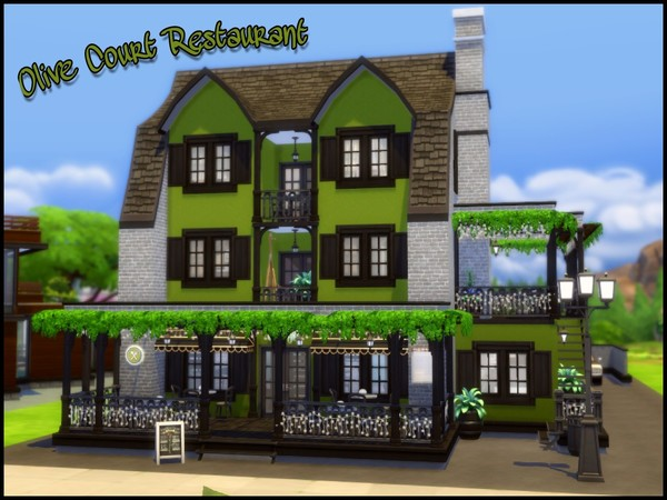 Olive Court Restaurant by sparky at TSR image 3123 Sims 4 Updates