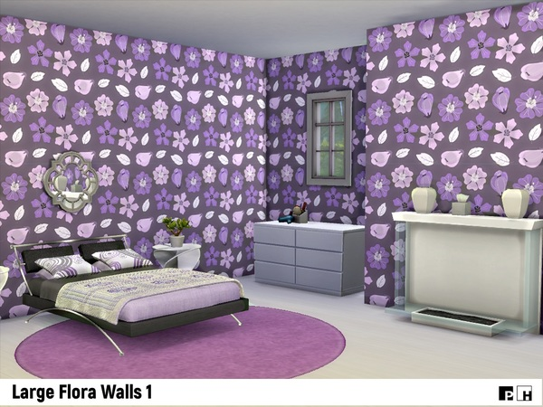 Large Flora Walls 1 by Pinkfizzzzz at TSR image 3125 Sims 4 Updates