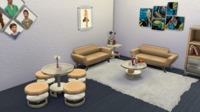 Bernies Living Room by LaLunaRossa at About Sims image 316 670x377 Sims 4 Updates