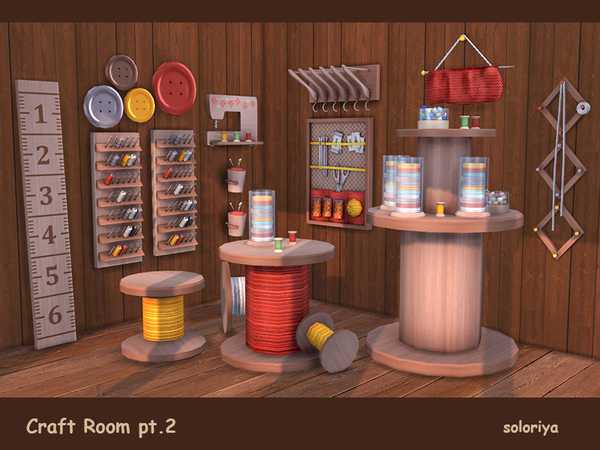 Craft Room Part 2 by soloriya at TSR image 3214 Sims 4 Updates