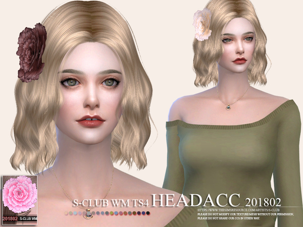 Headacc F 201802 by S Club WM at TSR image 3217 Sims 4 Updates