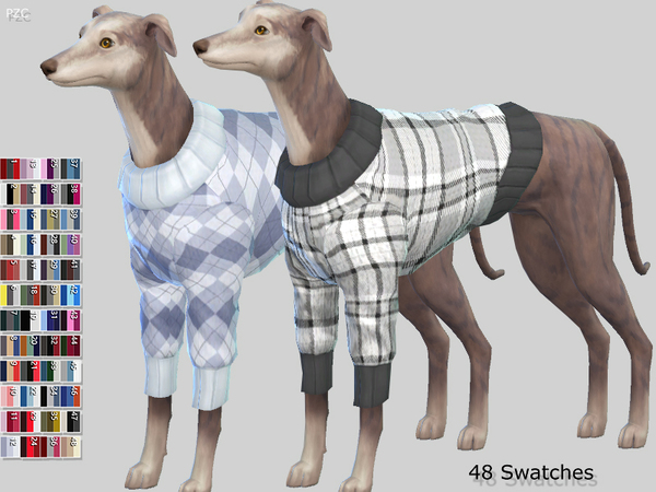 Large Dog Sweaters Collection by Pinkzombiecupcakes at TSR image 3223 Sims 4 Updates