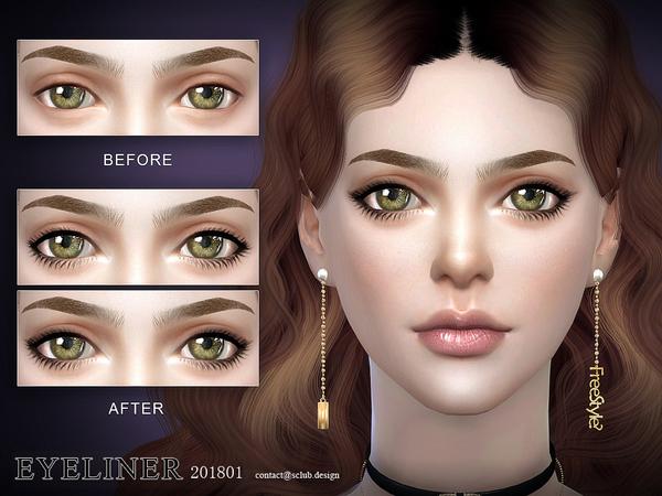 Sims 4 Eyeliner 201801 by S Club LL at TSR