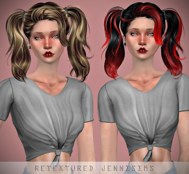 Sims 4 Newsea Guilty Romance Hair retexture at Jenni Sims