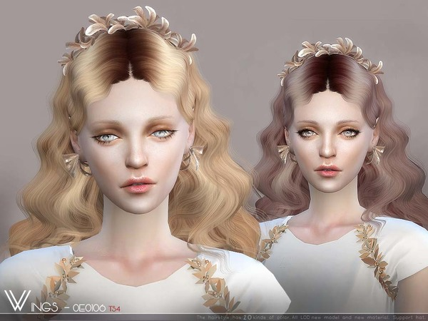 Hair OE0106 by wingssims at TSR image 3312 Sims 4 Updates