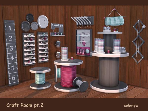 Craft Room Part 2 by soloriya at TSR image 3315 Sims 4 Updates