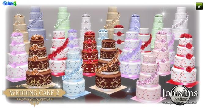 Wedding Cake Set At Jomsims Creations Sims 4 Updates
