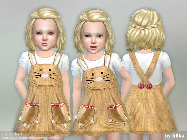 Rabbit Dress by lillka at TSR image 3322 Sims 4 Updates
