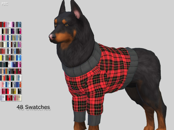 Large Dog Sweaters Collection by Pinkzombiecupcakes at TSR image 3326 Sims 4 Updates