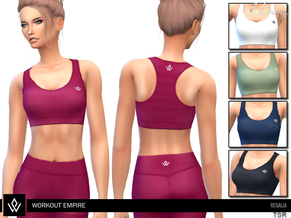 Regalia Sports Bra by ekinege at TSR image 3328 Sims 4 Updates
