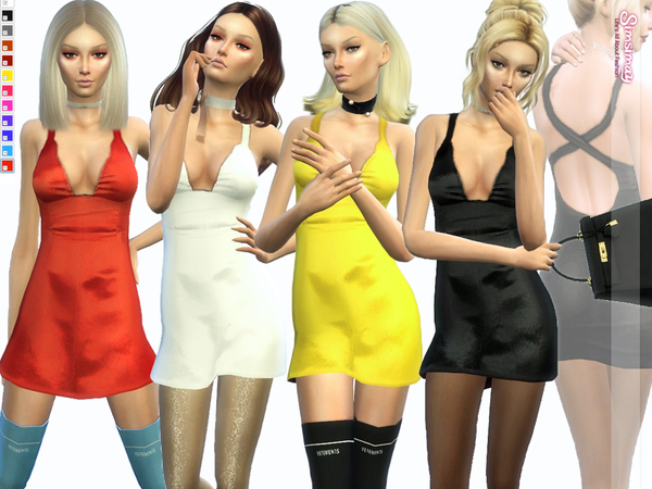 Sims 4 KYLIE Dress by Simsimay at TSR