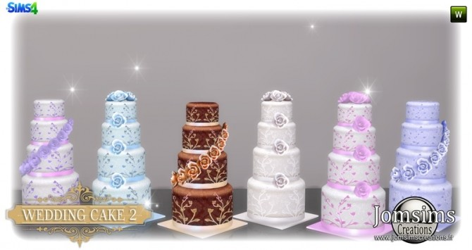 Wedding cake set at Jomsims Creations » Sims 4 Updates