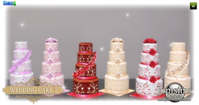 Wedding cake set at Jomsims Creations image 3341 670x355 Sims 4 Updates