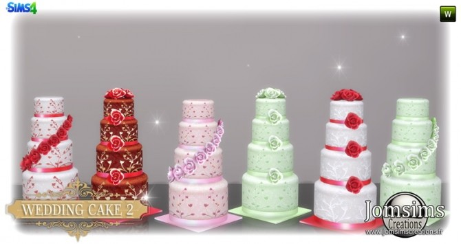 Wedding cake set at Jomsims Creations image 3351 670x355 Sims 4 Updates