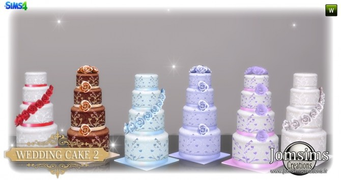 Wedding cake set at Jomsims Creations image 3361 670x355 Sims 4 Updates