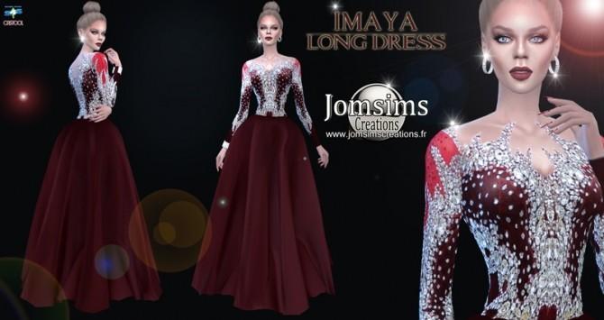 Imaya long dress at Jomsims Creations image 3371 670x355 Sims 4 Updates