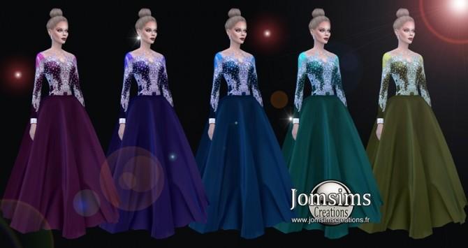 Sims 4 Imaya long dress at Jomsims Creations