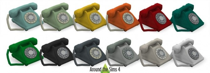 Sims 4 Home Phone by Sandy at Around the Sims 4