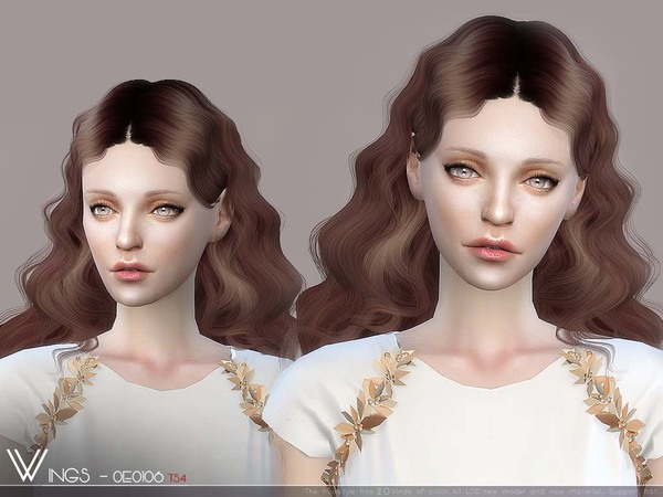 Hair OE0106 by wingssims at TSR image 3412 Sims 4 Updates
