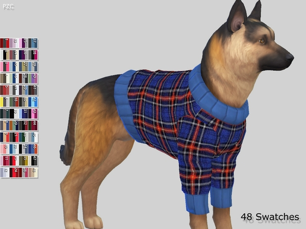 Sims 4 Large Dog Sweaters Collection by Pinkzombiecupcakes at TSR