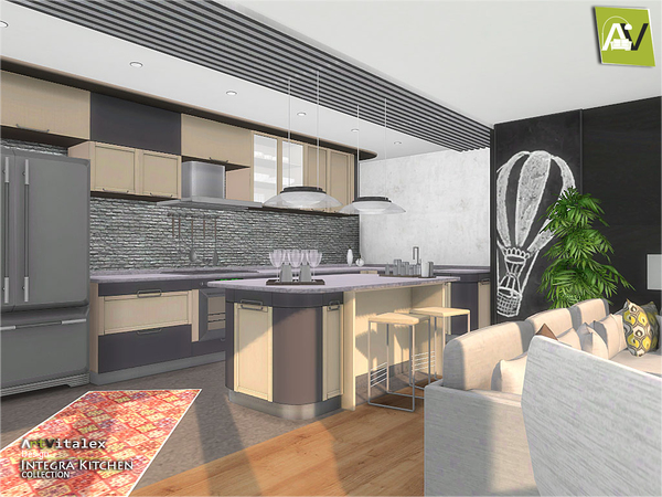 Integra Kitchen by ArtVitalex at TSR image 3513 Sims 4 Updates
