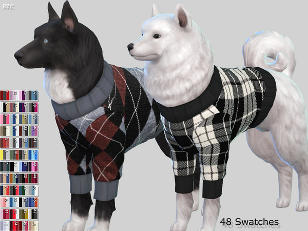 Large Dog Sweaters Collection by Pinkzombiecupcakes at TSR image 3525 Sims 4 Updates