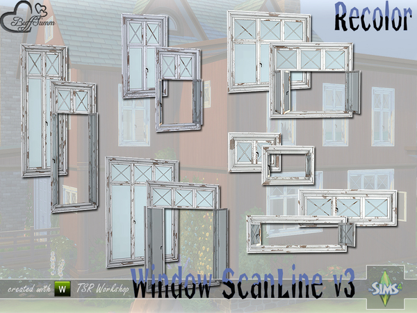 Sims 4 Window Set ScanLine v3 Recolor by BuffSumm at TSR