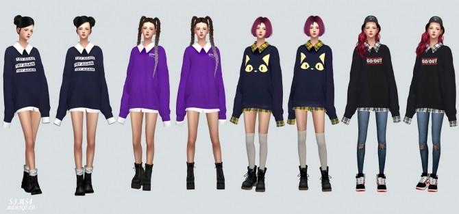 Sims 4 Long Sleeve Sweatshirt at Marigold