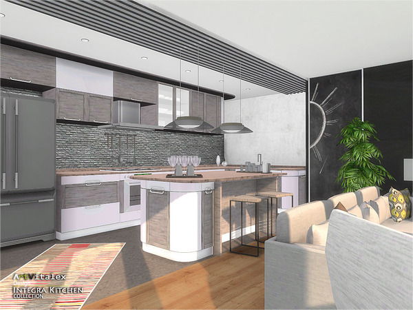 Integra Kitchen by ArtVitalex at TSR image 3612 Sims 4 Updates
