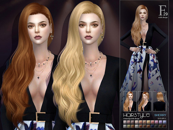 Sherry hair n29 by S Club at TSR image 3613 Sims 4 Updates