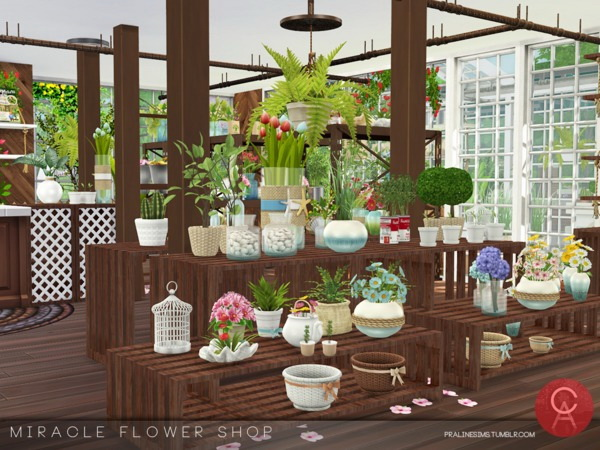 Miracle Flower Shop by Pralinesims at TSR image 3617 Sims 4 Updates