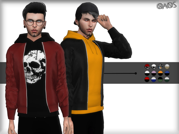 Sims 4 Hoodie With Jacket by OranosTR at TSR
