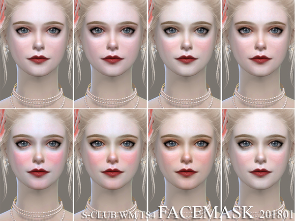 Sims 4 Facemask 201801 by S Club WM at TSR