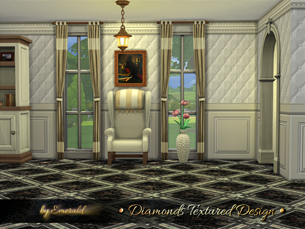 Diamonds Textured Design panels by emerald at TSR image 367 Sims 4 Updates