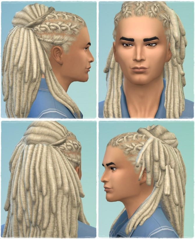 Sims 4 Lock my Dreads Hair (males & females) at Birksches Sims Blog