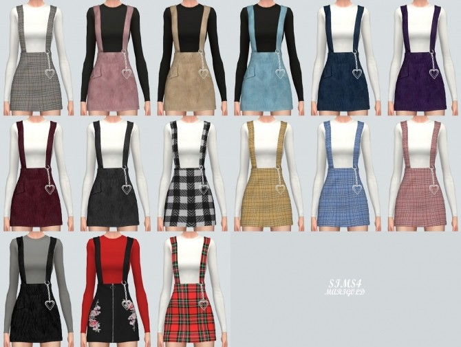 2a5977a3c Heart Ring Shoulder Strap Skirt at Marigold » Sims 4 Updates