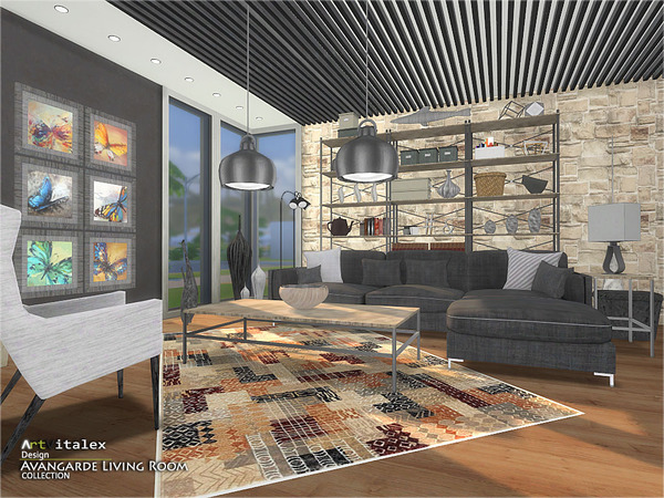 Avangarde Living Room by ArtVitalex at TSR image 37 Sims 4 Updates