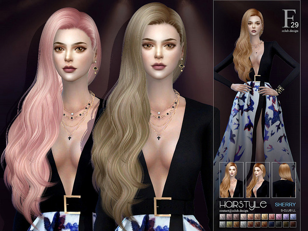 Sherry hair n29 by S Club at TSR image 3715 Sims 4 Updates