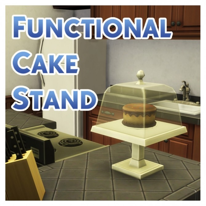 Functional Cake Stand With Optional GtW Version by Menaceman44 at Mod The Sims image 3730 670x669 Sims 4 Updates