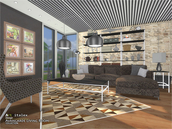 Avangarde Living Room by ArtVitalex at TSR image 38 Sims 4 Updates