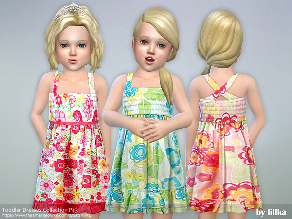 Sims 4 Toddler Dresses Collection P43 by lillka at TSR